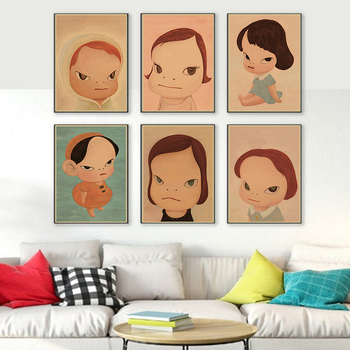 Sleepwalking Dolls Cartoon Kraft Paper Poster Art Painting Print Poster Picture Wall Desk Baby Room Home Decor image