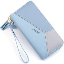 Геометрический женский клатч, розовые кошельки с карманом для мобильного телефона, кошелек, держатель для карт, пэчворк, Женский Длинный кошелек, Дамская мода, короткий кошелек для монет