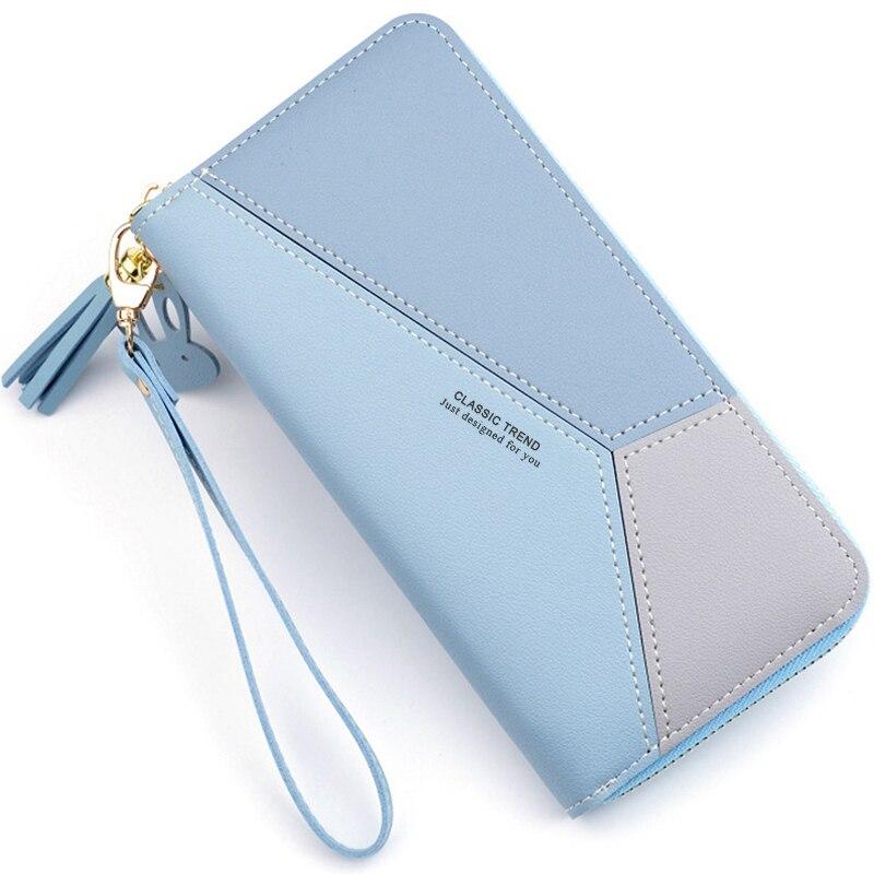 Geometrische Vrouwen Clutch Roze Portefeuilles Telefoon Pocket Purse Kaarthouder Patchwork Vrouwen Lange Portemonnee Dame Mode Korte Munt Burse