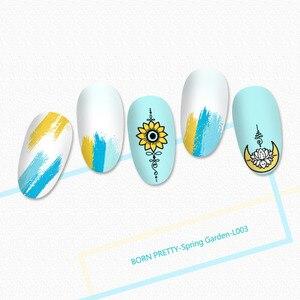 Image 4 - BORN PRETTY seria mandali płytki do tłoczenia paznokci kwiaty do dekoracji paznokci (kształt prostokątny) szablon szablonu obrazu