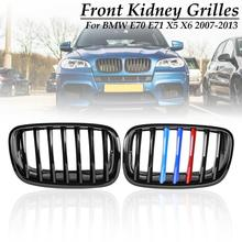 Grille for BMW E70 E71X5 X6 2007 2008 2009 2010 2011 2012 2013 Matte Gloss Black M Pair Front Bumper Hood Kidney Sport Grills цена