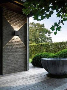 Wall-Sconce Cube Porch-Light Led-Wall-Lights Angle Garden Outdoor Radar-Sensor Corridor-Lamp