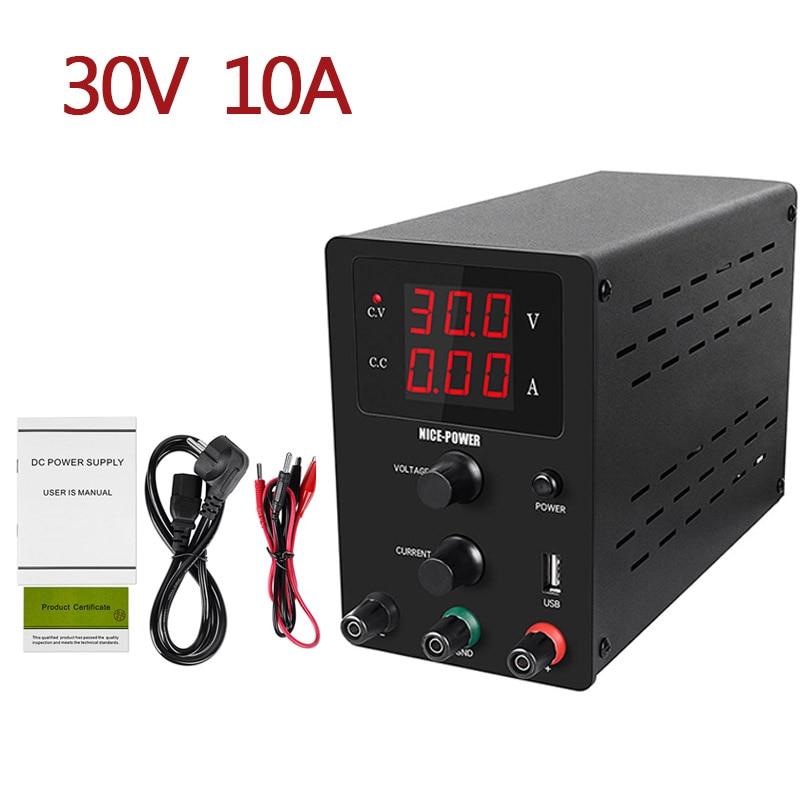 Черный переключатель лабораторный источник питания постоянного тока Регулируемая мощность 30 в 10 А 60 в 5A настольный источник питания Регулятор USB 0.01A 0,1 в 0,01 Вт|Регуляторы напряж./стабилизаторы|   | АлиЭкспресс