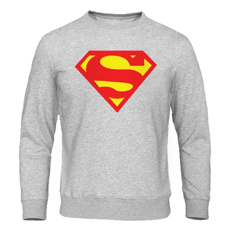 Hot Sale 2019 Autumn Men's Hoodies Sweatshirt Superman Sweatshirts Male Tracksuit Fashion Brand Men Clothing Casaul Streetwear