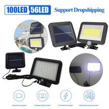 COB 100LED солнечная лампа датчик движения Водонепроницаемый Открытый Путь ночного освещения поддержка дропшиппинг
