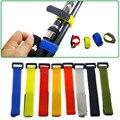 5 teile/los Mehrfarbenwiederverwendbare Angelrute Krawatte Halter Strap Hosenträger Verschluss Haken Krawatten Gürtel Angelgerät Zubehör-in Angelutensilien aus Sport und Unterhaltung bei