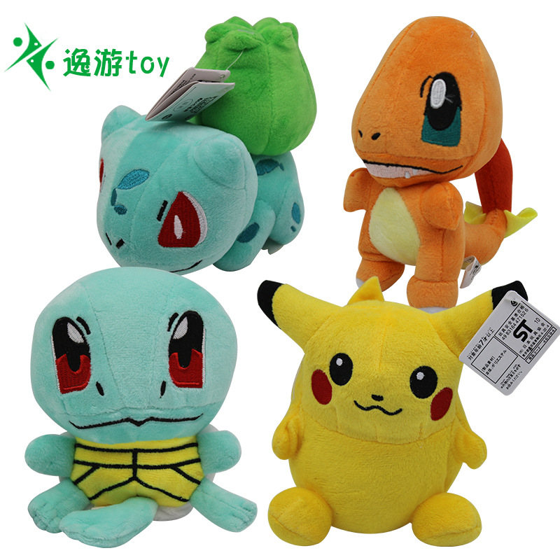 takara-tomy-font-b-pokemon-b-font-pikachu-eevee-plush-toys-jigglypuff-charmander-gengar-bulbasaur-animal-plush-stuffed-toys-for-children