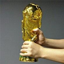 2018 fransa baskı avrupa altın renk reçine dünya kupası futbol şampiyonu trophy hediyelik eşya maskot oyuncak futbol hayranları hatıra