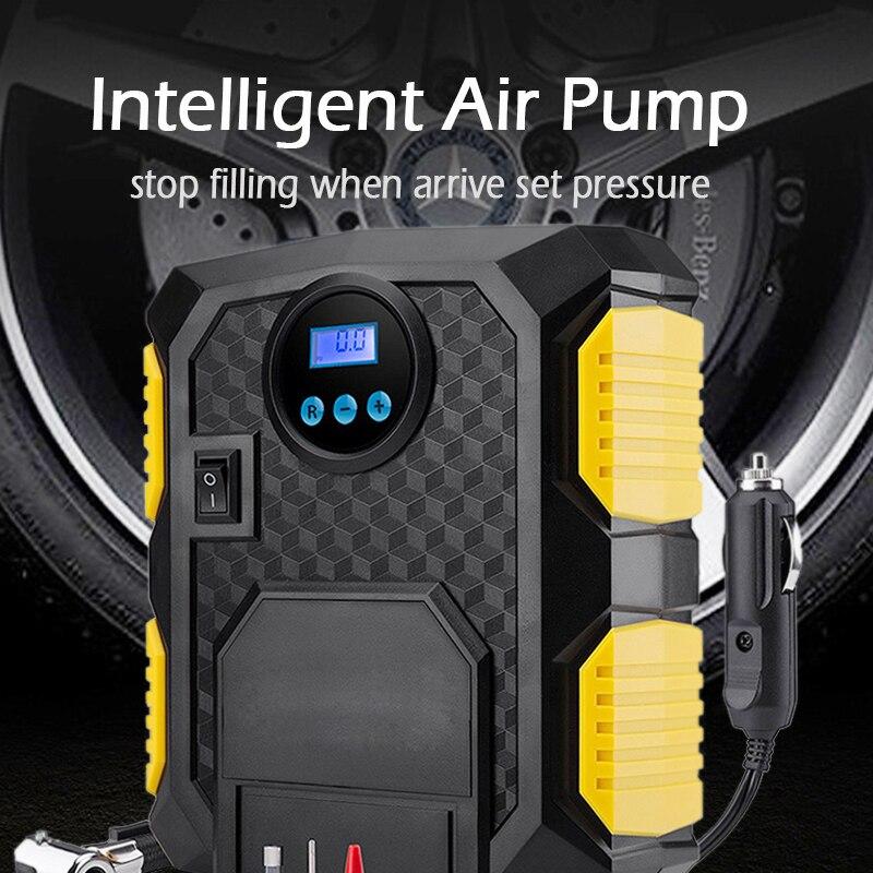 Цифровой шинный насос постоянного тока 12 вольт автомобильный портативный воздушный компрессор насос 150 фунтов/кв. дюйм автомобильный воздушный компрессор для автомобилей мотоциклов велосипедов