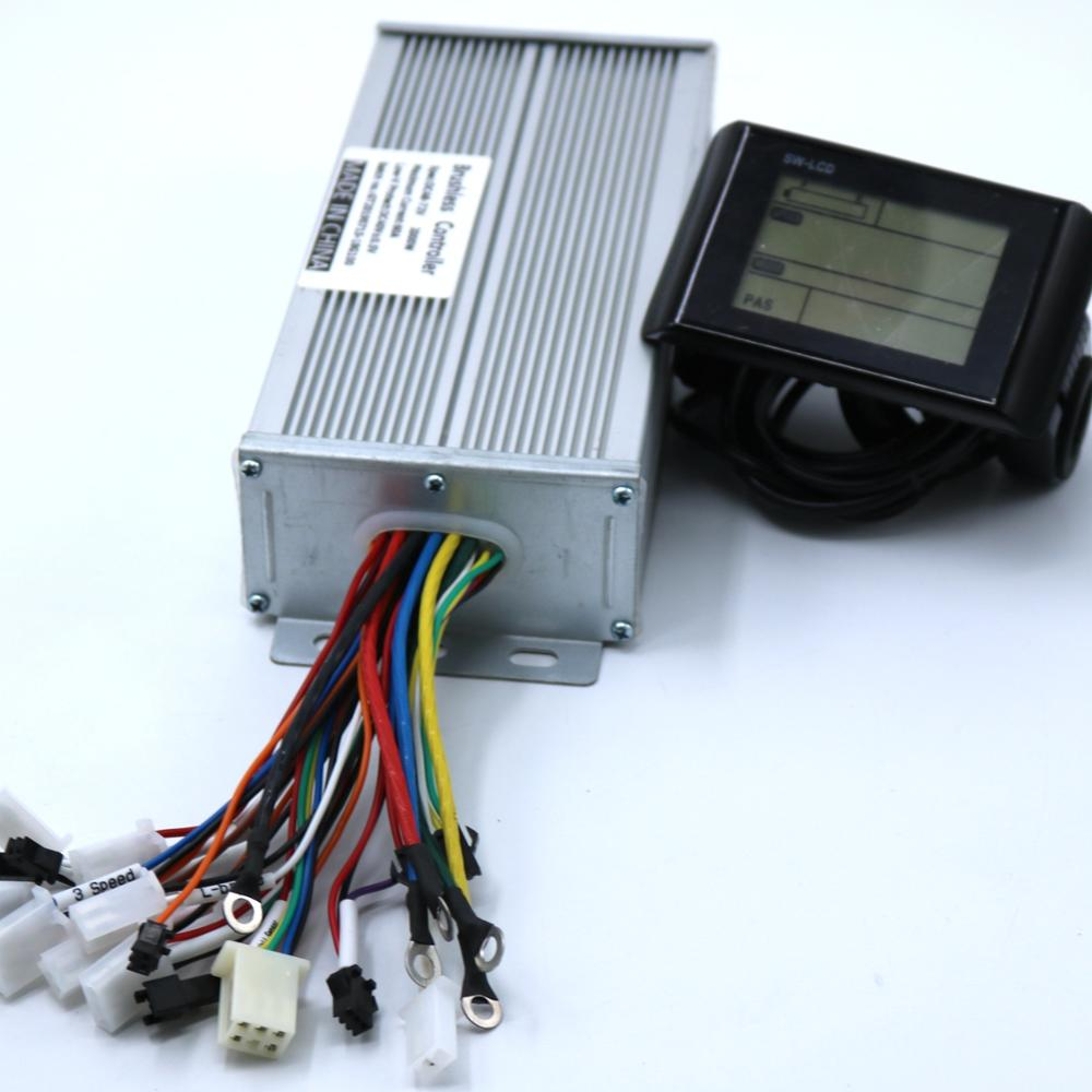 Greentime 48-60V <font><b>2000W</b></font> <font><b>Brushless</b></font> <font><b>DC</b></font> <font><b>Motor</b></font> Controller Ebike Controller +SW900 LCD Display One Set image