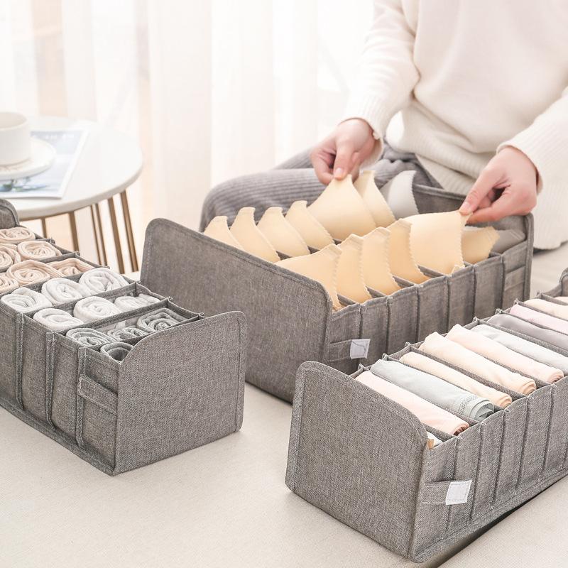Underwear Storage Box Socks Bra Underpants Foldable Divider Drawer Closet Organizer Household Clothes Storage Sorting Tools New