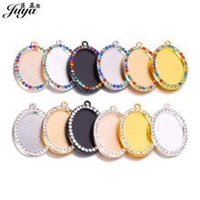 60PCS Oval Diamond Pendant Base Three Sizes Settings DIY Jewelry Making For Pendant Necklace Earring Keychain jewellery Crafts