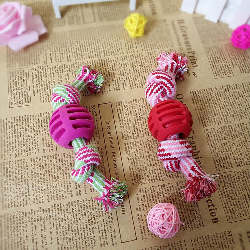 Kapmore 1pc Bite Resistant Dog Rope Toy Pet Interactive Knot Design Dog Chew Rope Puppy Teething Toy Pet Supplies Dog Favors