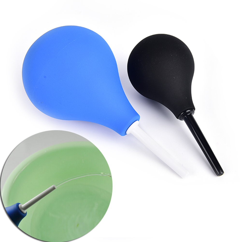 89mL/160ml/224ml Pear Shaped Enema Rectal Shower Cleaning System Silicone Gel Blue Ball For Anal Anus Colon Enema Anal Cleaning