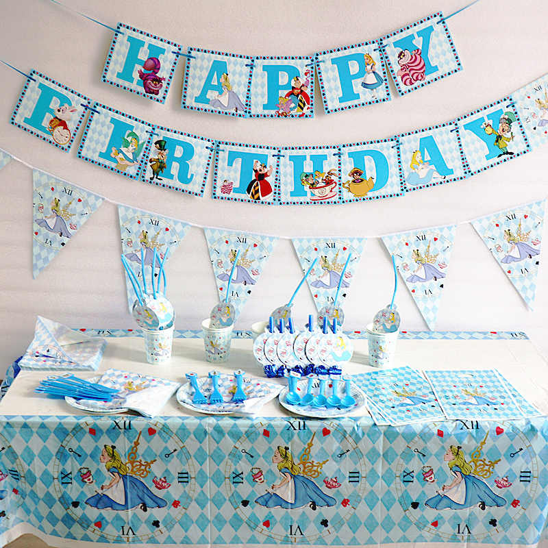Alice In Wonderland Thema Verjaardagsfeestje Decoraties Papier Cup Meisje Feestartikelen Alice Feestartikelen Afternoon Tea Party