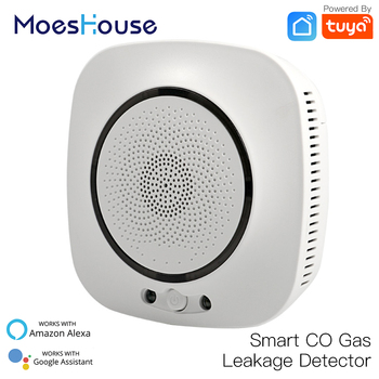 WiFi Smart CO Gas Sensor Carbon Monoxide Leakage Fire Security Detector Smart Life Tuya App Control Home Security System big discount wireless zigbee smart carbon monoxide detector 85db fire alarm controlled by mobile app
