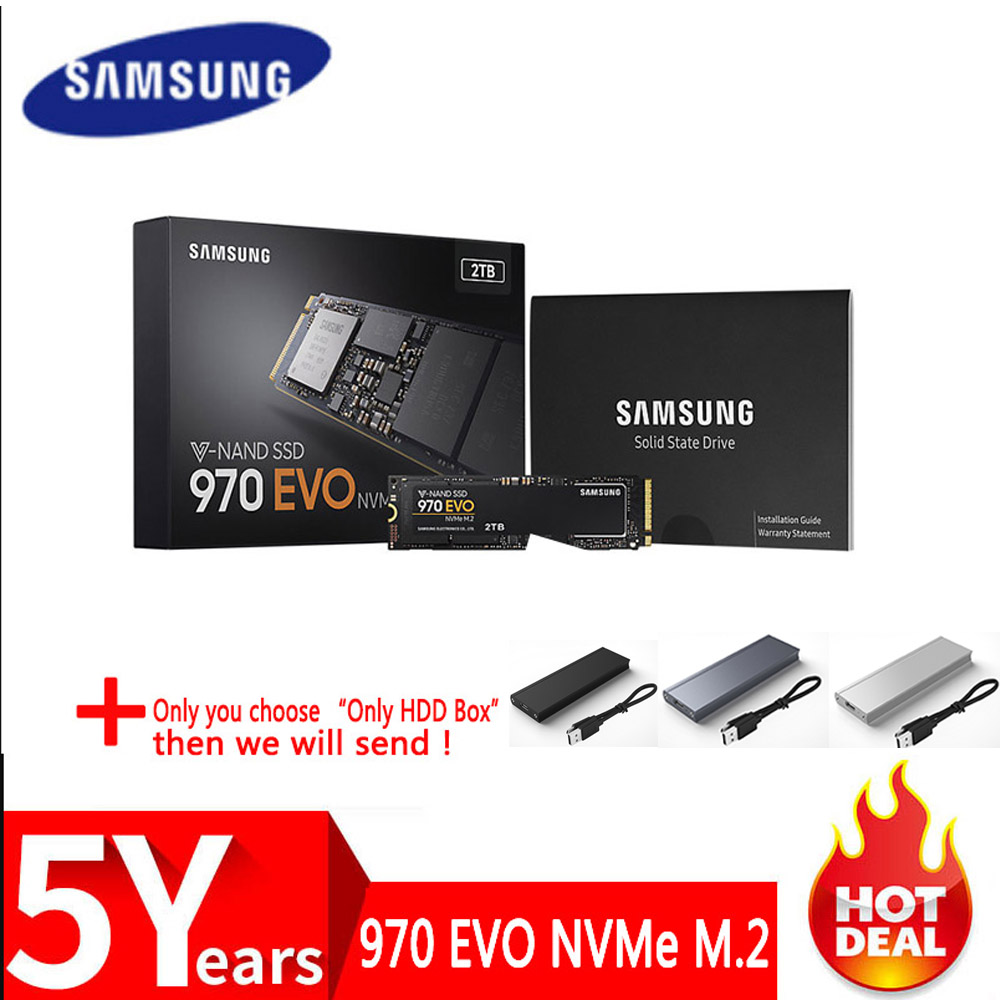 SSD SAMSUNG M.2 SSD M2 1TB 500G 250G HD NVMe SSD Hard Drive HDD Hard Disk 1 TB 970 EVO Solid State PCIe For Laptop Computer