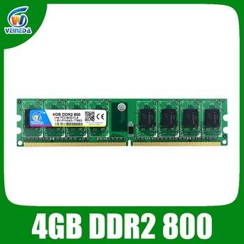 Veineda ddr2 8 ГБ 2x4 ГБ ddr2-800 для intel и amd mobo поддержка памяти 8 Гб ram ddr2 6400