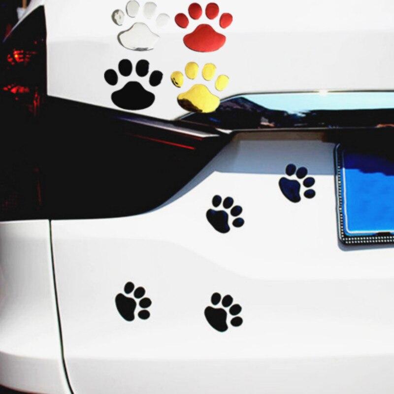 3D Автомобильная наклейка из ПВХ животное собака медведь печать ноги бампер креативный лапа светоотражающий Авто винила Водонепроницаемый ...