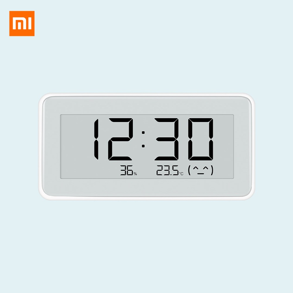 <font><b>Mijia</b></font> Smart Temperature And Humidity Monitoring Electronic Digital <font><b>Watch</b></font> INK Screen Humidity Thermometer Sensor For Mihome APP image