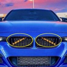 Наклейка на автомобильную ленту, рамка для Bmw F10 F11 F30 F32 F01 F02 F20 3 5 7 серия, передняя решетка, отделка, полоски, украшение для автомобиля