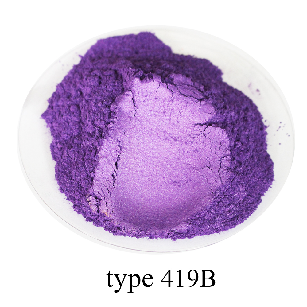 50g Type 419B Purple Pearl Powder Pigment Acrylic Paint For Crafts Arts Automotive Paint Soap Dye Colorant Mica Powder Pigment