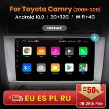 Reprodutor de vídeo dos multimédios do rádio do carro gps nenhum 2din 2 android 2006 2gb + 32gb awesafe px9 para toyota camry 6 40 50 2011-10.0