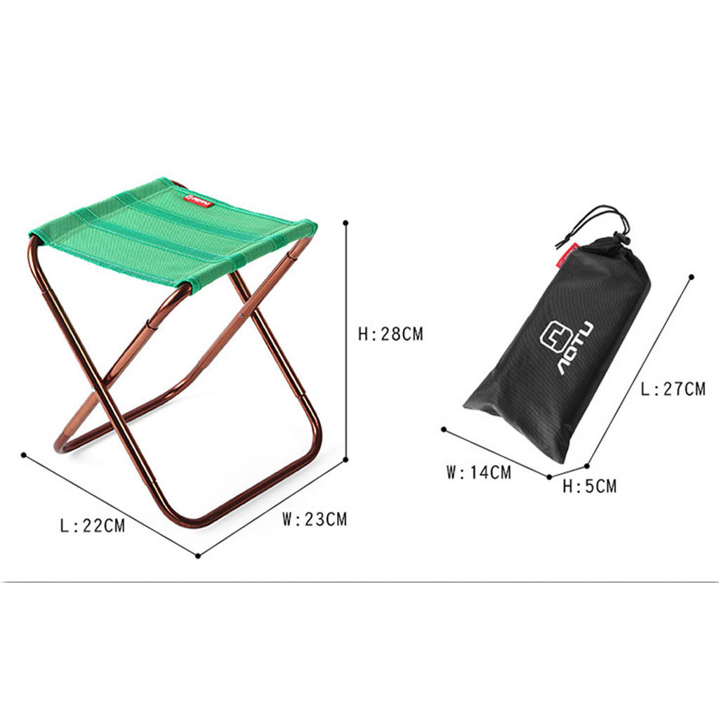 Portable Folding Chair Outdoor Camping Fishing Picnic Beach BBQ Stools Mini Seat