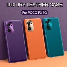 לxiaomi POCO F3 5G מקרה יוקרה עור מפוצל מתכת עדשת הגנה רך כיסוי עבור xiaomi Mi 11i poco F3 redmi K40 פרו מקרה קאפה