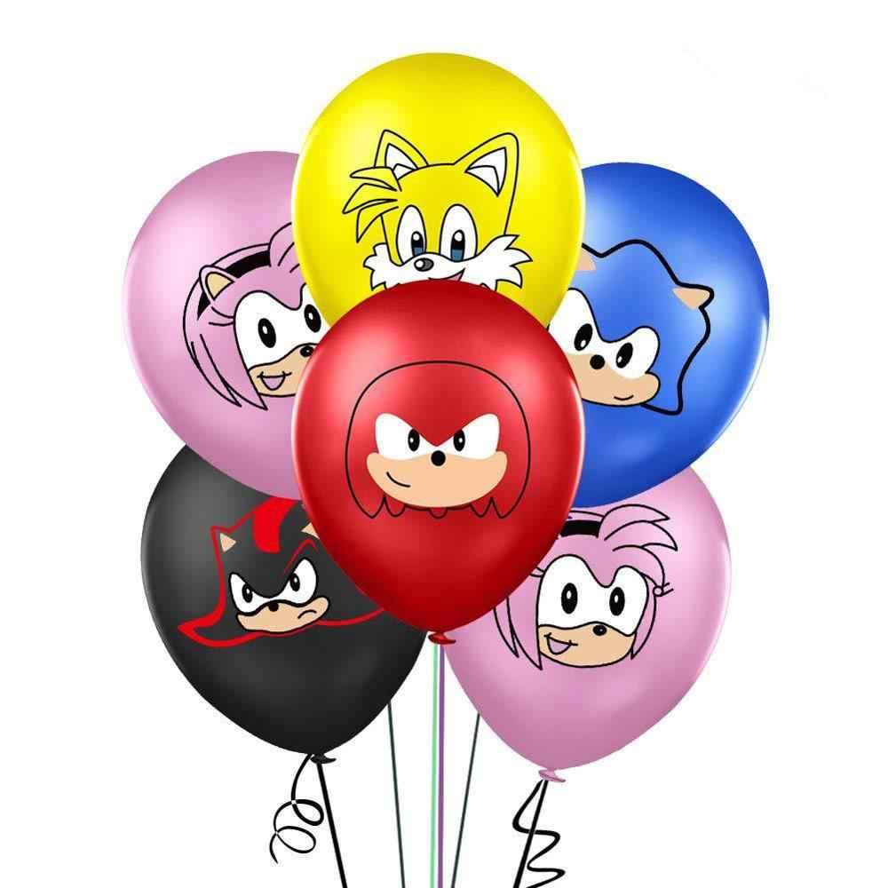 Nieuwe Sonic The Hedgehog Ballonnen Super Hero Game Fans Folie Ballon Jongen Gelukkige Verjaardag Banner Party Kids Toy Decor Supplies