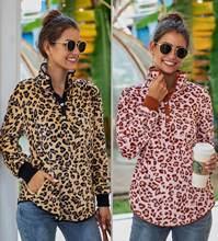 Зима 2020 Новая повседневная спортивная рубашка с леопардовым