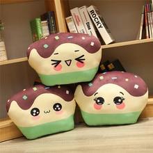 цены Hot 45cm Simulation Cake Plush Toys Soft Stuffed Pillow Food Shape Cushion Cute Kids Toy Girl Birthday Christmas Gift Sofa Decor