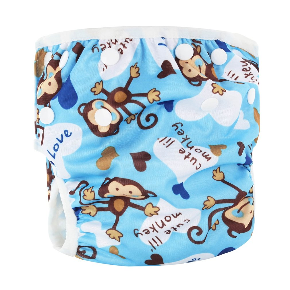 OUTAD Washable Baby Unisex Adjustable Swim Diaper Pool Pant Waterproof Reusable Baby Training Swimming Diaper One Size Swimsuit