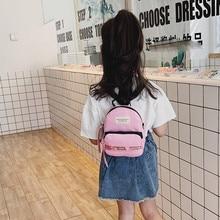 Solid Color Fashion Women Bag Children Bag Shoulder Bag Multi-purpose Candy Color Small Backpack Brithday Gift For Kids Bule