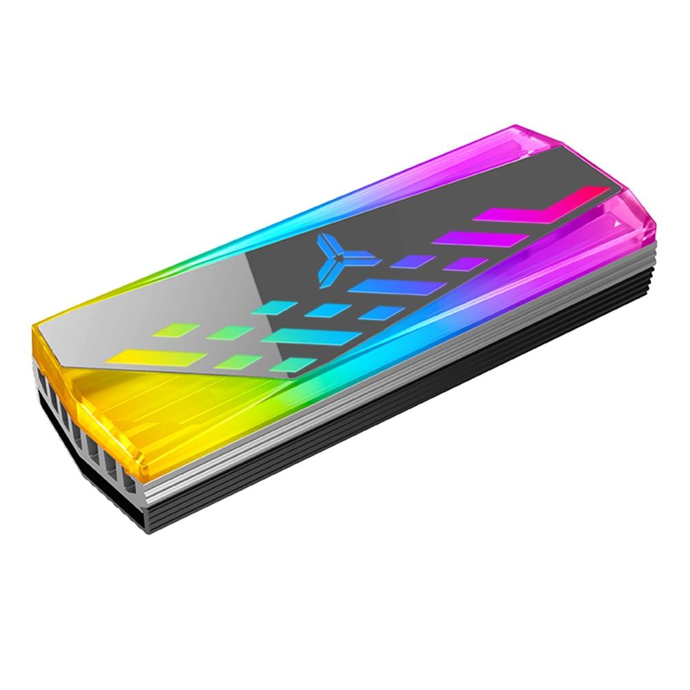 JONSBO ARGB M.2 2280 радиатор SSD Алюминий сплав RGB памяти теплоотвод 5V 3Pin Кулер жилет радиатора для M2 твердотельный накопитель