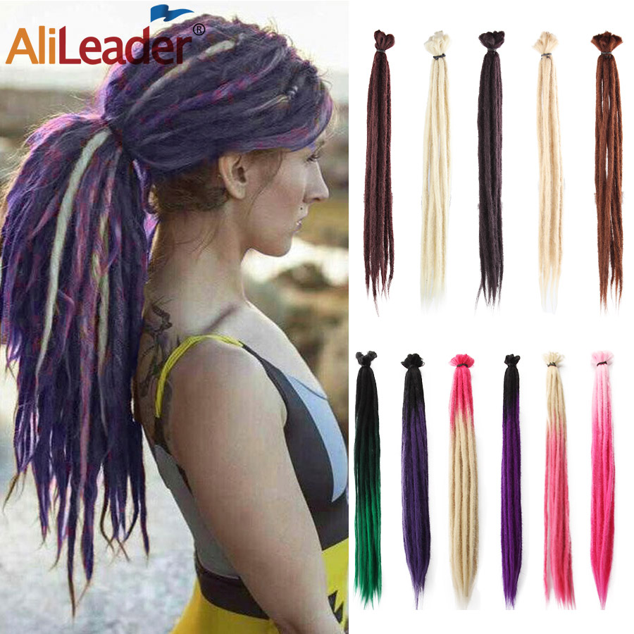 Alileader Omber Dreadlocks Crochet Hair Braids Synthetic Braiding Hair Extension Reggae Hip Hop Hair Braid 1 Root/Pcs