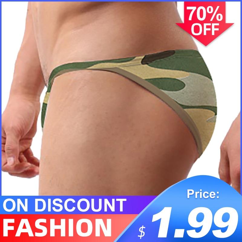 Ins Style Sexy Underwear Men Jockstrap Briefs Cotton Gay Men Bikini Underware Man Cueca Male Panties Lingeire Mesh Breathable
