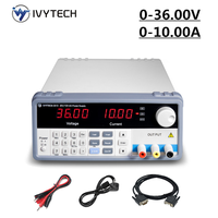 IVYTECH Programmable Lab Bench Power Supply DC 36V 10A 60V 5A Adjustable Digital Regulated Switching Power Supplies Power Source