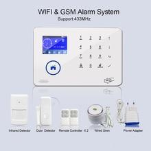 2G GSM сигнализация SMS вызов PIR датчик движения двери проводной сирена приложение дистанционное управление сцена набор анти-охранная Wi-Fi Домашний GSM ворот