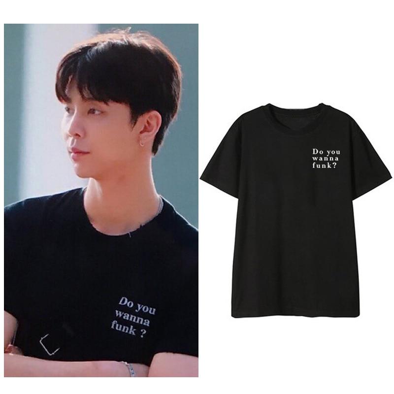 Kpop NCT JOHNNY Cotton Tshirt IZONE SAKURA Same T Shirt Tee Short Sleeve Fashion Women Girls Summer Tops