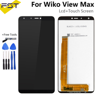 720*1440 For Wiko View Max LCD Display with Touch Screen Digitizer Mobile Phone Accessories For Wiko View Max Lcd Screen Sensor