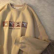 2021 outono mulher hoodies s hoodies oversize feminino solto urso de algodão sólido quente feminino sweatshirts casal moda mais tamanho