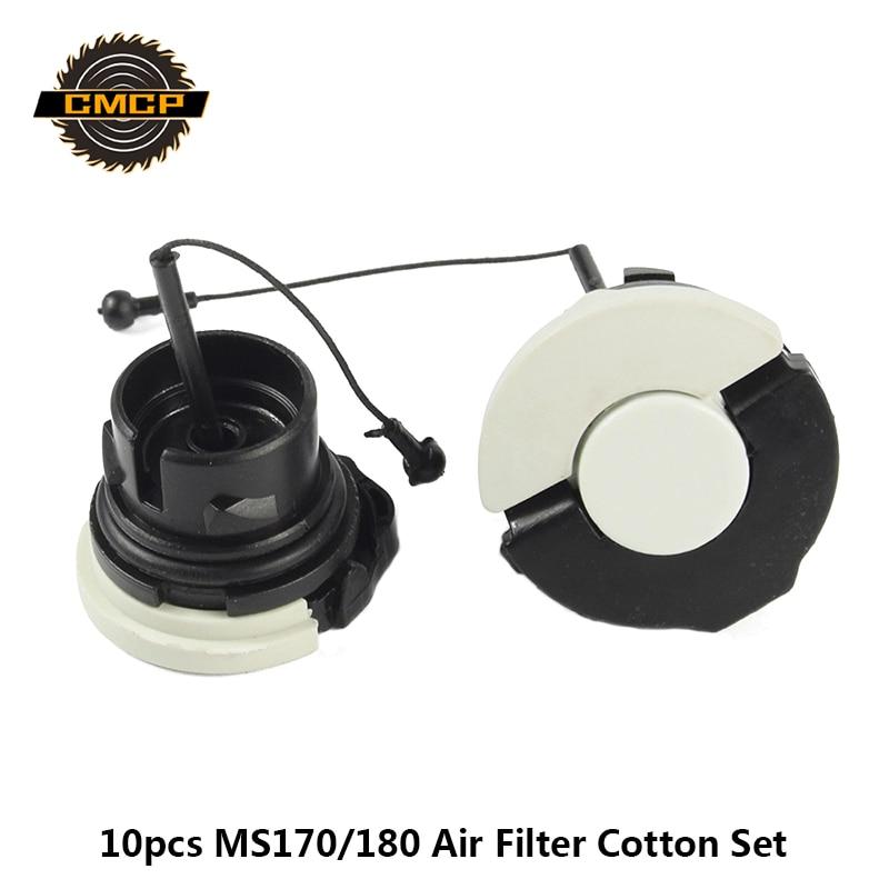 2pcs Fuel Oil Cap Kit Fit For STIHL MS171/181 MS200/210 MS230/240/250/260 MS340 MS200T MS211 MS192 MS192T Chainsaw Fuel Tank Cap