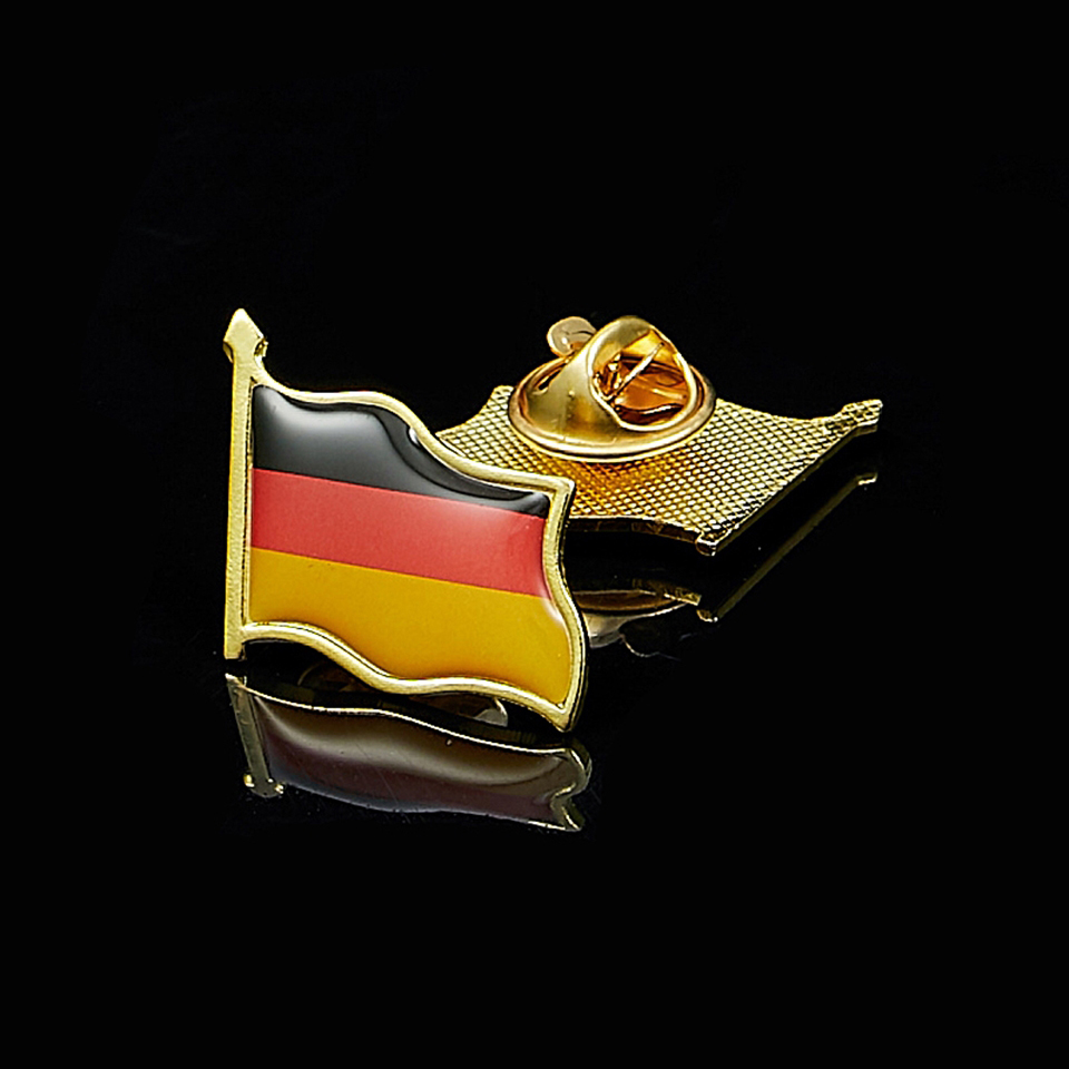 German National Flag Waving Metal Lapel Hat Tie Pin Deutsche Brooches Metal Badge