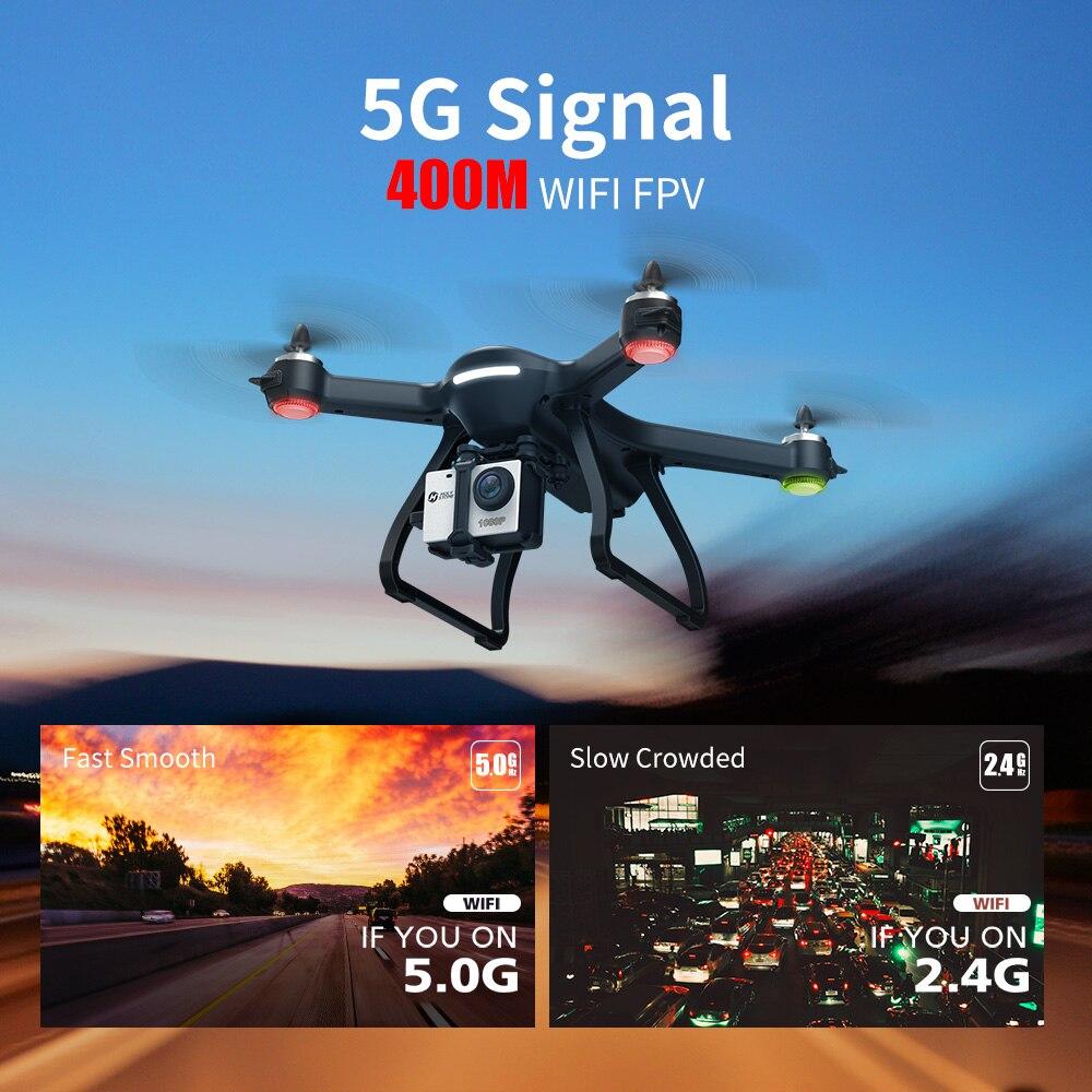 المقدسة حجر HS700 GPS Drone 5G مع كاميرا كامل HD 1080P Drone GPS فرش 1 كجم 1000M FPV المهنة كوم كاميرا Wifi Quadcopter-في طائرات هليوكوبترتعمل بالتحكم عن بعد من الألعاب والهوايات على  مجموعة 2