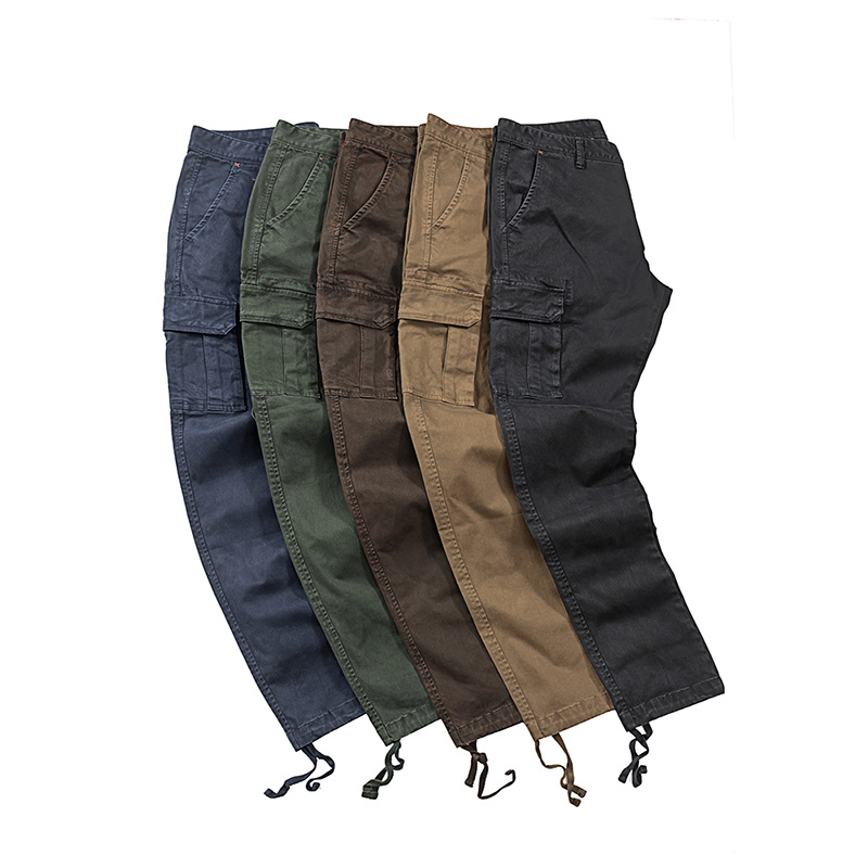 18 Autumn And Winter Origional Popular Brand MEN'S Overalls Europe And America Washing Kaji Bags Trousers Tactical Pants