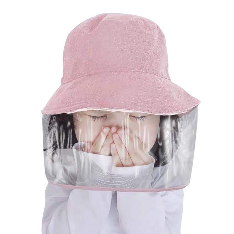 Anti-spitting Children Bucket Hat Anti Virus Protective Hat Prevent Kids From Dustproof Cover Against Droplet Transmission