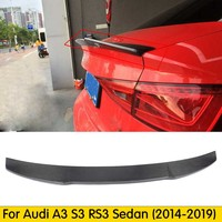 For A3 S3 8V Carbon Fiber Rear Trunk Lip Spoiler Wing For Audi A3 S3 8V Sedan 2013 2016