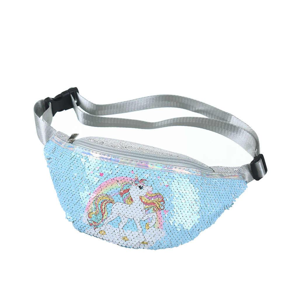 Поясная сумка с единорогом на бедрах, пояс для маленьких девочек, детская поясная сумка, женский телефон, банан на сумке, удобный мешок для денег, саше, Canguro