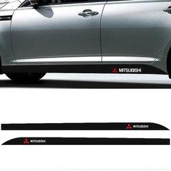2 шт. автомобиля логотип сбоку наклейка сбоку юбка наклейки для автомобиля для Мицубиси ASX Lancer Pajero Outlander L200 EVO Lancer EX Pajero эмблема